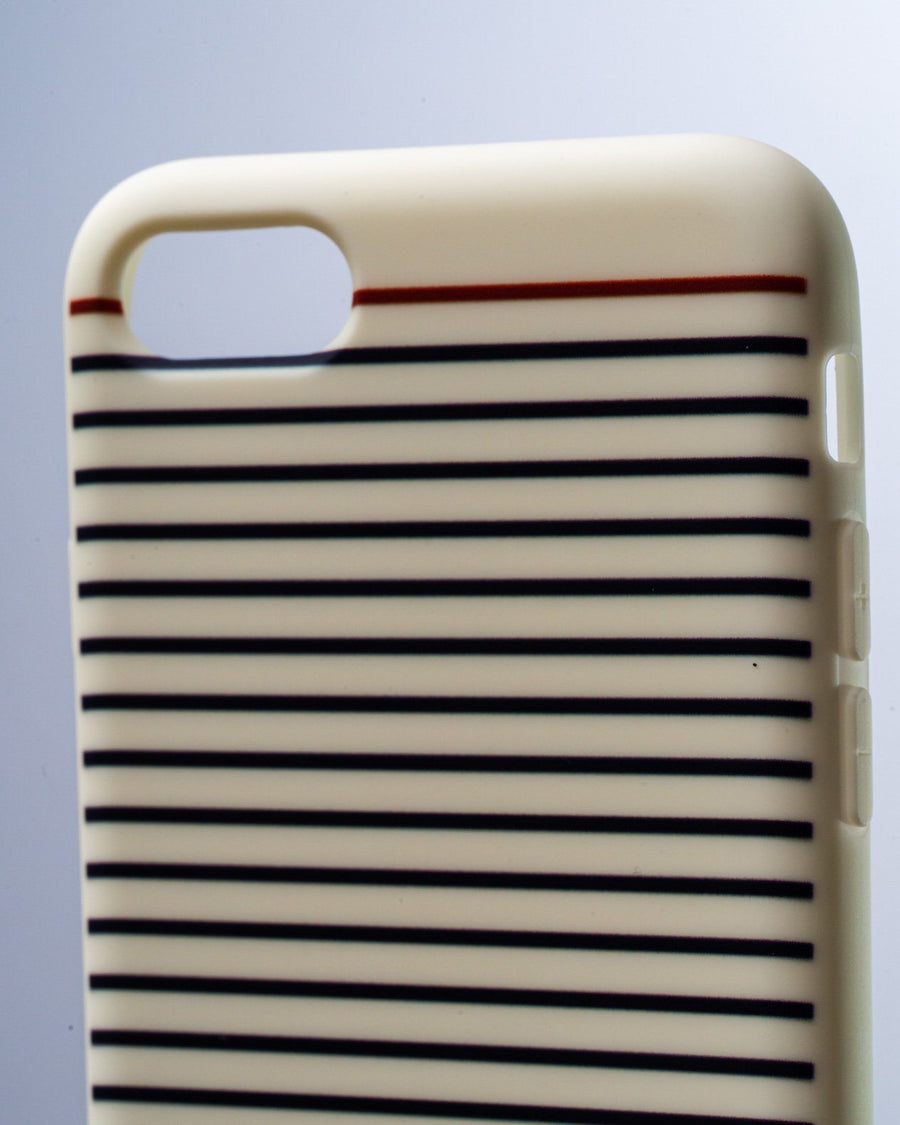 Coque iPhone Marinière Blanche Silicone Recyclé - Made in France