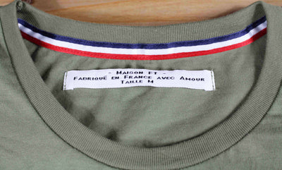 T-SHIRT Homme Vert Kaki - Made in France T-shirt MIF - Maison FT made in France ou Bio