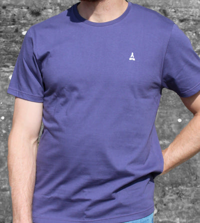 T-SHIRT Homme Violet - Made in France T-shirt MIF - Maison FT made in France ou Bio