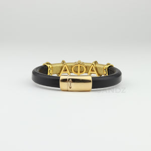 "Alpha Phi Alpha leather bracelet ""SANDZ"" LD"