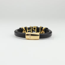 "Alpha Phi Alpha leather bracelet  ""SANDZ"" Prophyte- ALPHA"