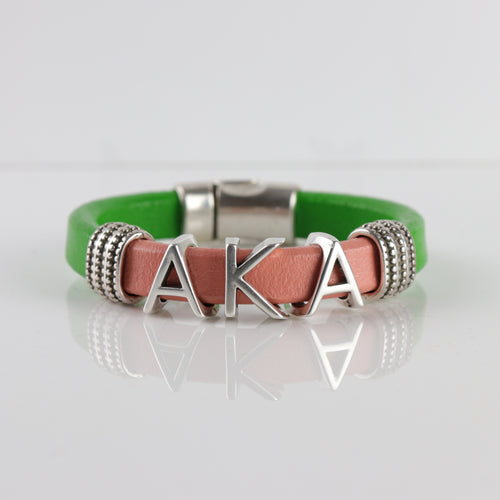 Alpha Kappa Alpha Leather bracelet -