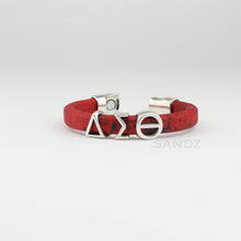 "Delta Sigma Theta ""Prophyte"" Crimson and Black Cork  bracelet"