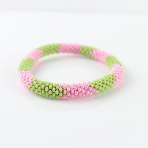 Alpha Kappa Alpha Glass Bead Bracelets - SET OF 3 -