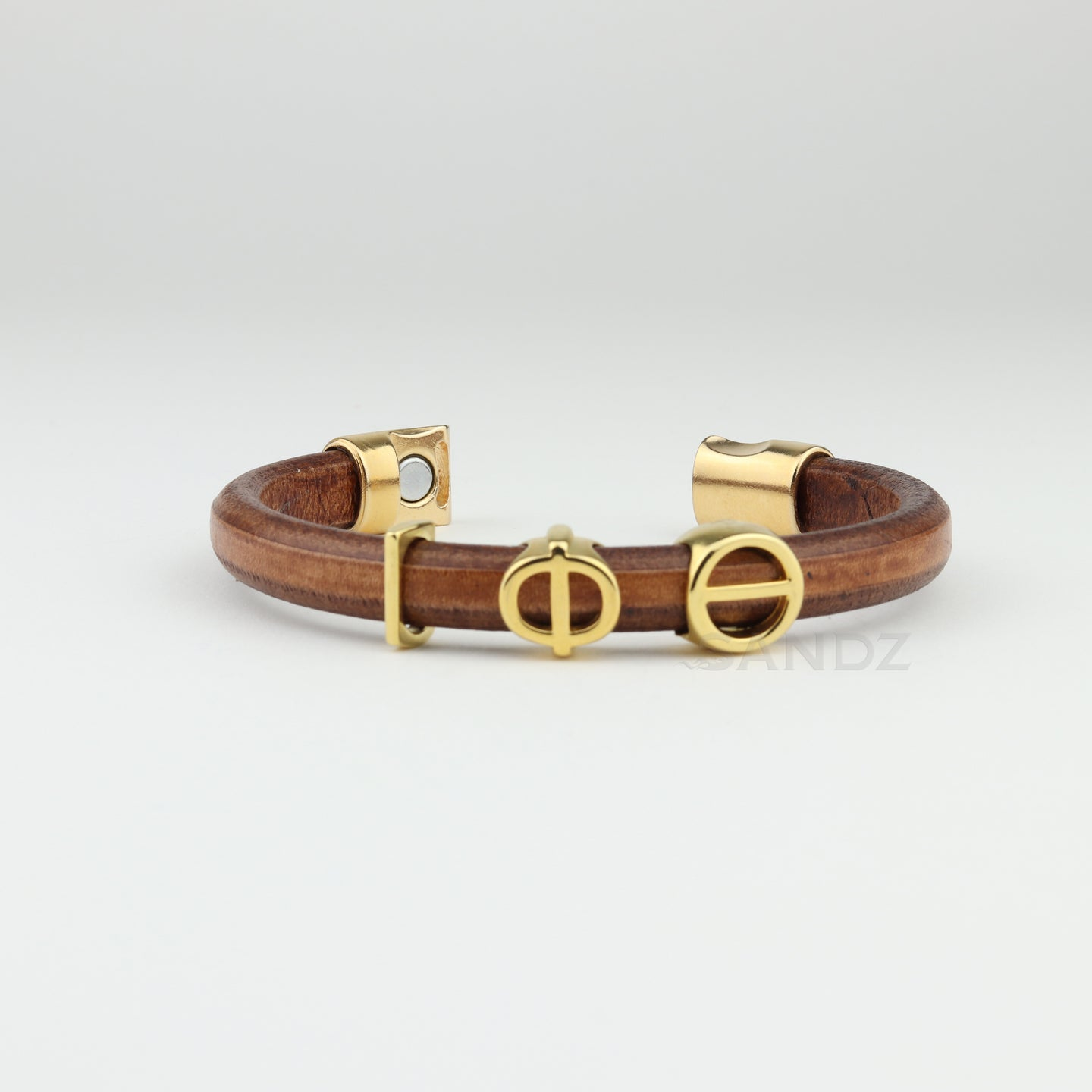 Iota Phi Theta natural leather bracelet-