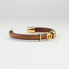 "Iota Phi Theta natural leather bracelet- ""Prophyte"""