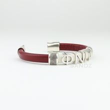 "Kappa Alpha Psi leather bracelet ""SANDZ"" 7RD - Phi Nu Pi edition"