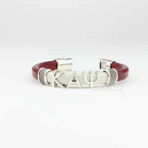 "Kappa Alpha Psi  leather bracelet. ""SANDZ"" 7RD"