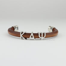 "Kappa Alpha Psi  natural leather bracelet ""Prophyte"""