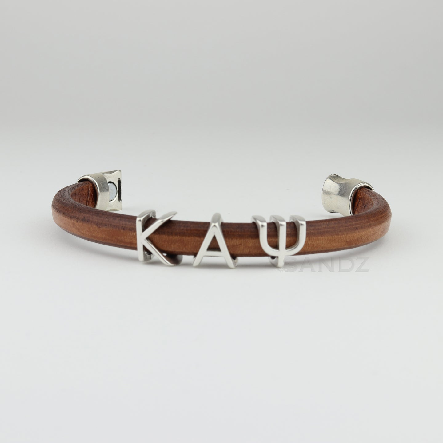 Kappa Alpha Psi  natural leather bracelet