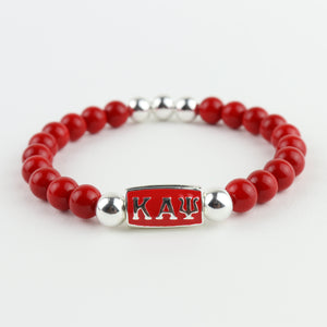 Kappa Alpha Psi Fraternity stretch bead bracelet