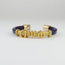 "Omega Psi Phi leather bracelet ""SANDZ"" LD"