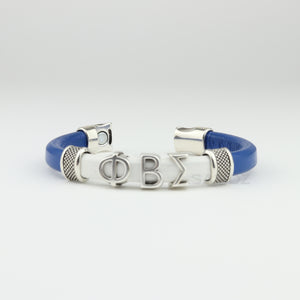 "Phi Beta Sigma leather bracelet- ""SANDZ"" 7RD"