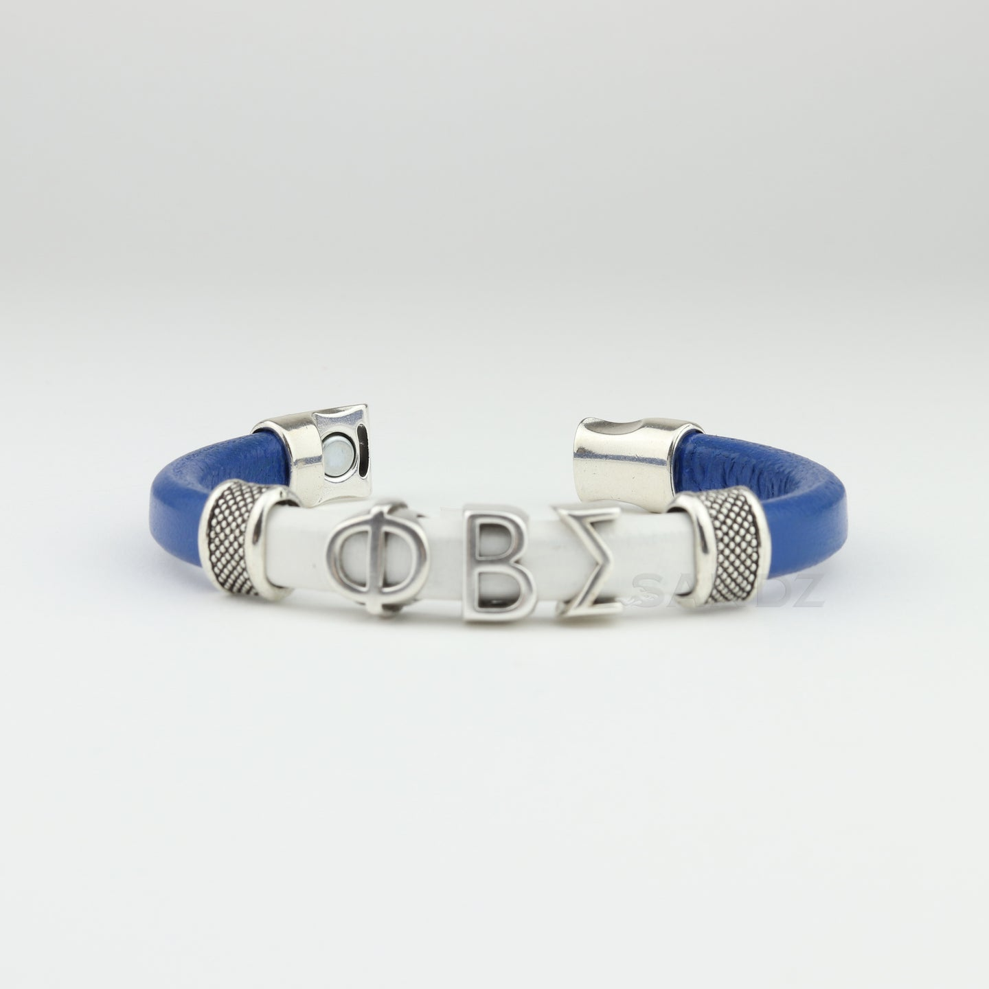 Phi Beta Sigma leather bracelet-