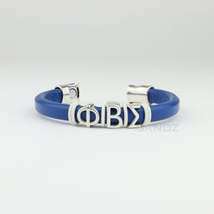 "Phi Beta Sigma leather bracelet ""Prophyte"" Royal Blue"
