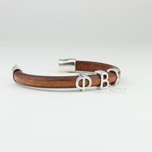 "Phi Beta Sigma natural colored leather bracelet ""Prophyte"""
