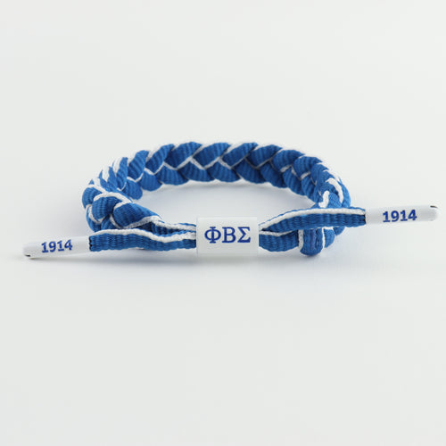 Phi Beta Sigma Fraternity: Blue & White paracord bracelet