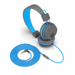 JLab Audio JBuddies Studio Over Ear Folding Kids Headphones Blue/Gray (English Packaging Only)