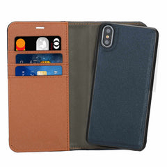 Blu Element 2 in 1 Folio Case Blue/Tan for iPhone XS/X