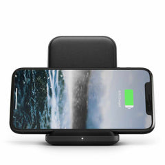Nomad Base Station Leather Wireless Charging Stand 10W Black
