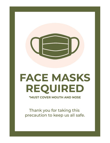 Face Masks Required - Smockingbird's