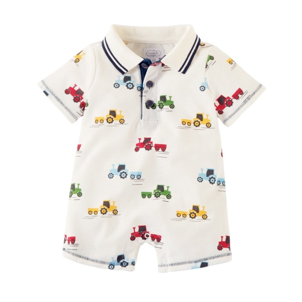 Mud Pie Tractor Romper - Smockingbird's
