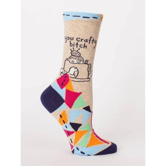 Crafty bitch crew socks - Smockingbird's