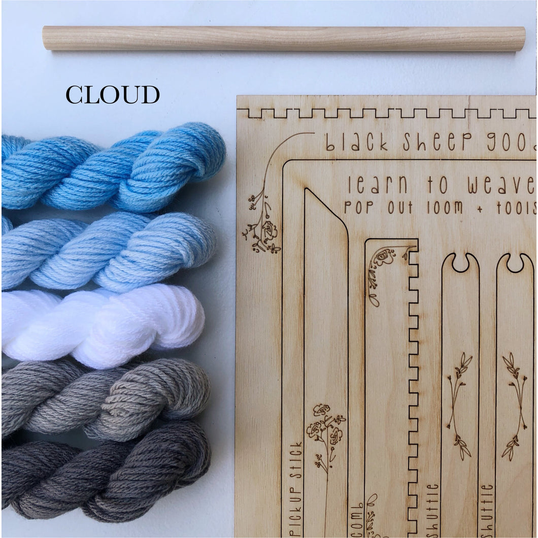 DIY Cloud Tapestry Weaving Kit - Smockingbird's
