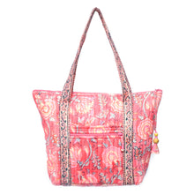 Load image into Gallery viewer, Coral Floral Quilted Shoulder Bag - Smockingbird's