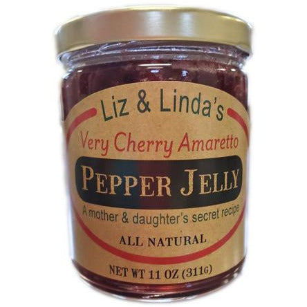 Liz and Linda's Very Cherry Amaretto Pepper Jelly - Smockingbird's