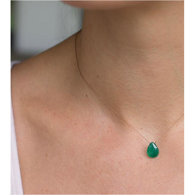 Soul Ku Luxe Green Onyx Necklace for Bereavement - Smockingbird's