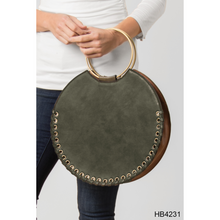 Load image into Gallery viewer, Whip stitch Circle Tote