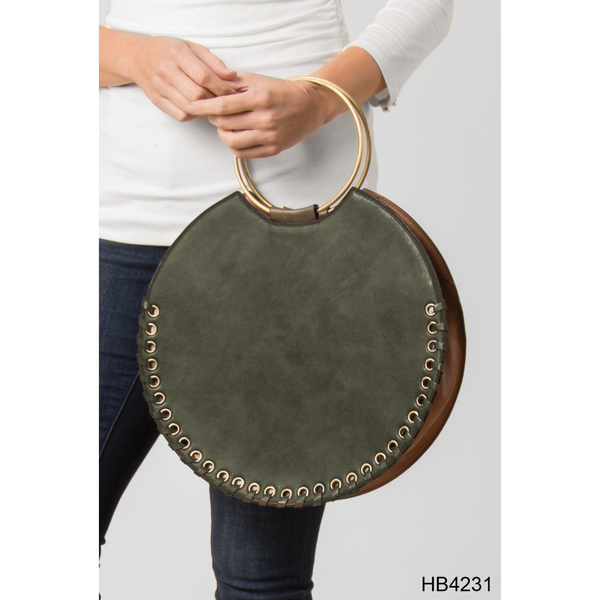 Whip stitch Circle Tote