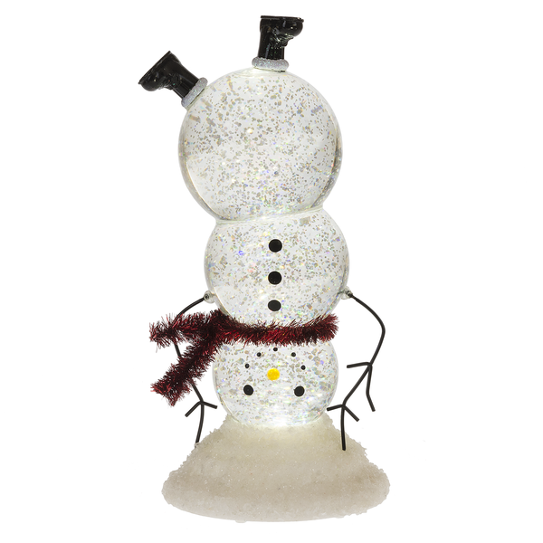 Upside Down Light Up Shimmer Snowman