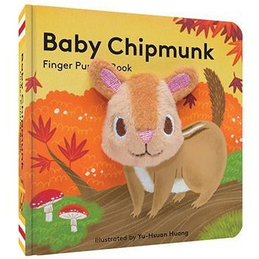 Baby Chipmunk Finger Puppet Book - Smockingbird's