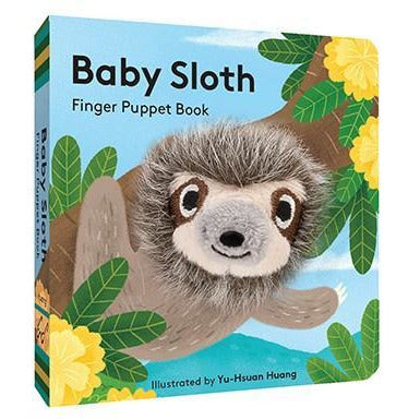 Baby Sloth finger Puppet Book - Smockingbird's