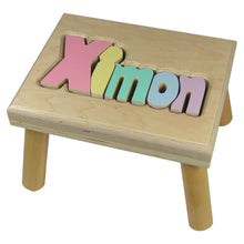 Load image into Gallery viewer, Classic Name Puzzle Stool for Boy - Smockingbird's