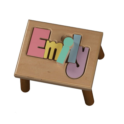 Classic Name Puzzle Stool  for Girl - Smockingbird's