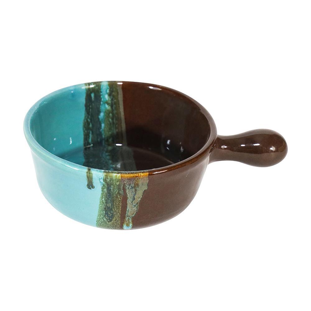 Clay in Motion Ocean Tide Handled Soup Bowl - Smockingbird's