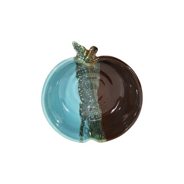 Clay in Motion Ocean Tide Small Apple bowl - Smockingbird's