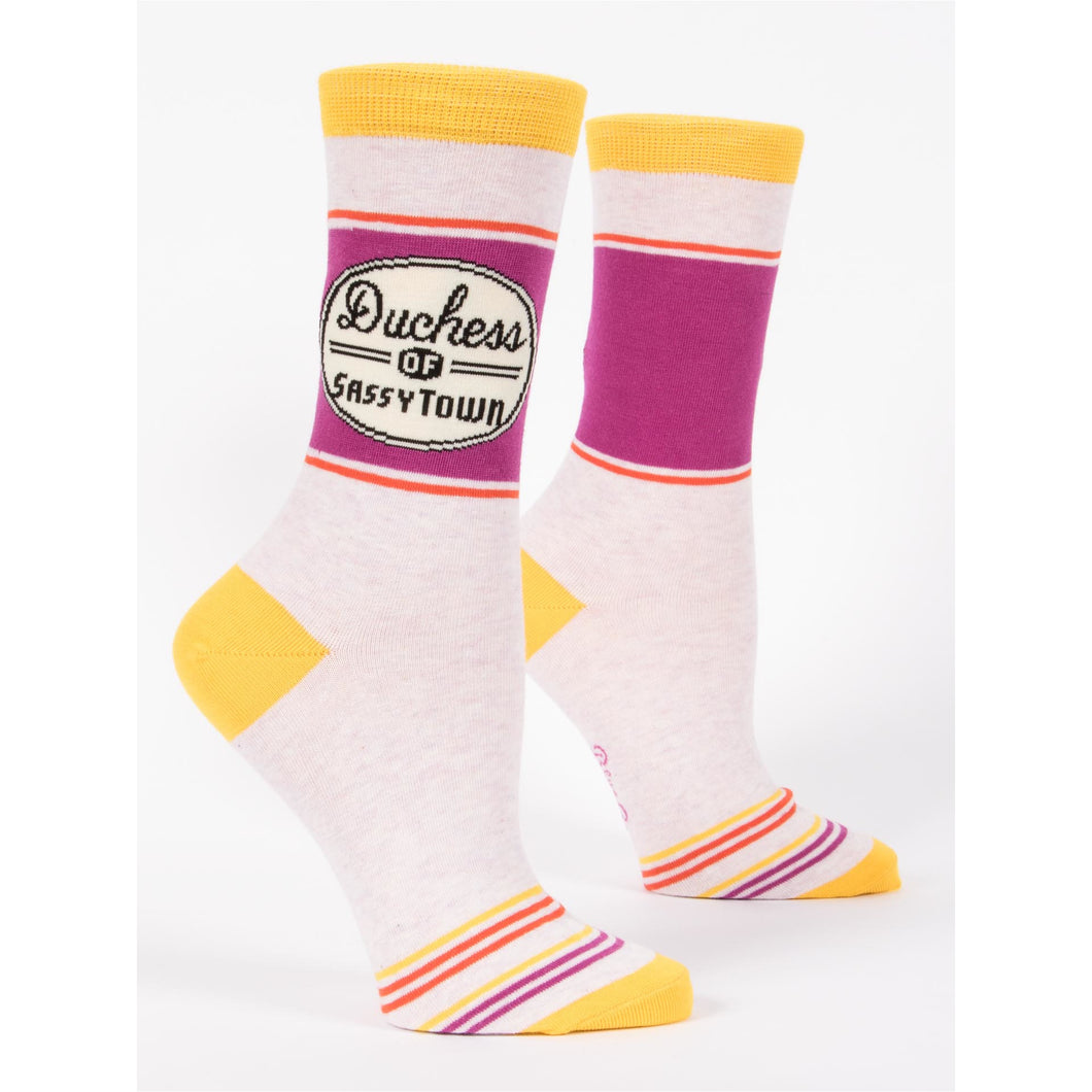 Duchess of Sassytown Women's Crew Socks - Smockingbird's
