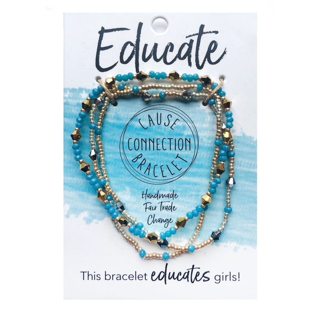 Educate Cause Connection Bracelet Set - Smockingbird's