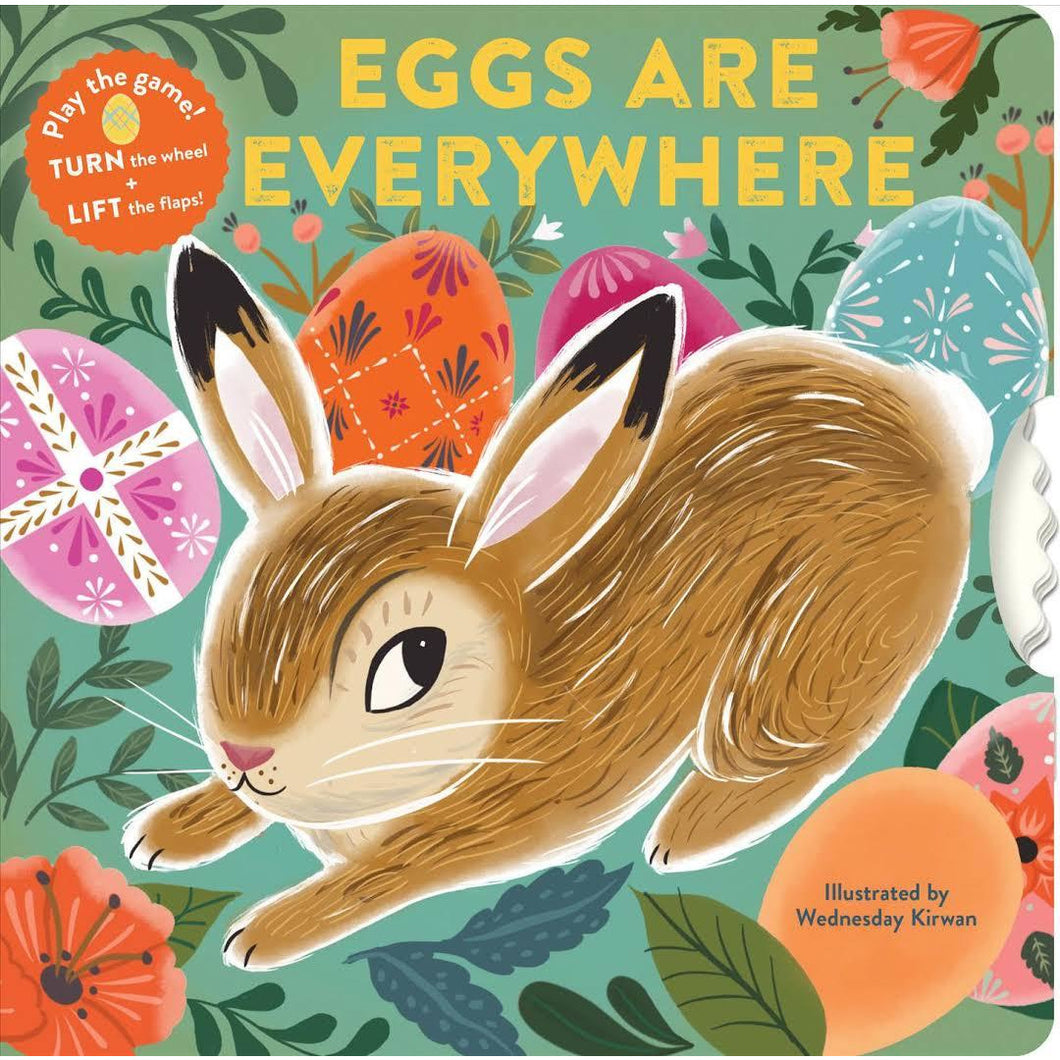 Eggs are everywhere children's Easter board book - Smockingbird's