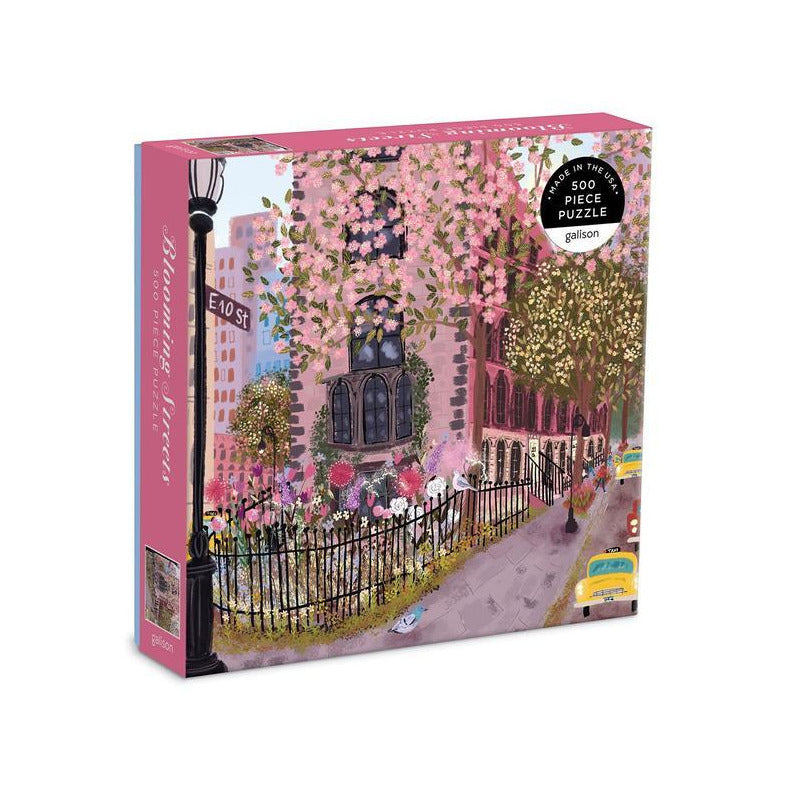 Galison Blooming Streets 500 Piece Puzzle - Smockingbird's