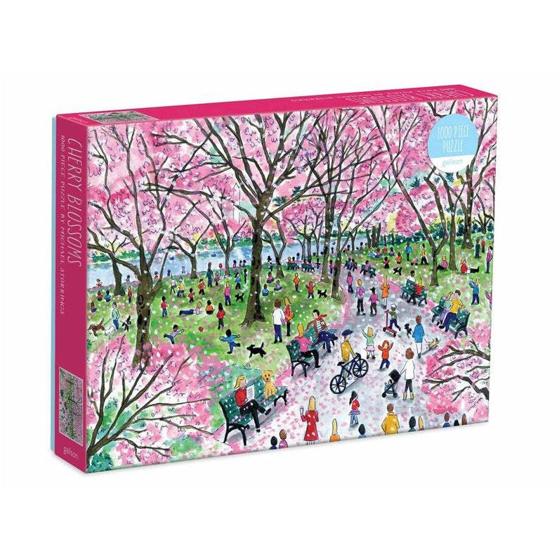 Galison Michael Storrings Cherry Blossoms 1000 Piece Puzzle - Smockingbird's
