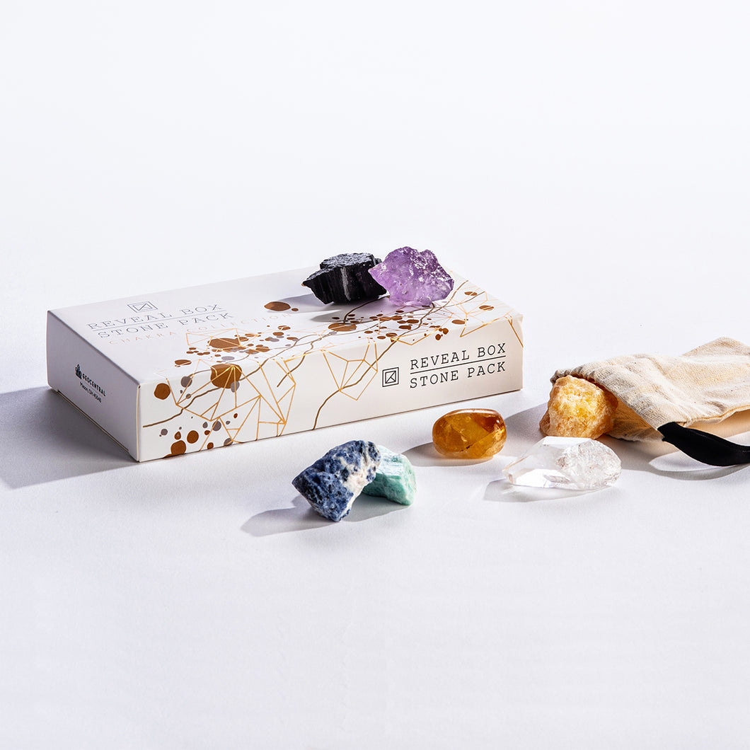 Geo Central Chakra Collection Reveal Box Stone Pack - Smockingbird's