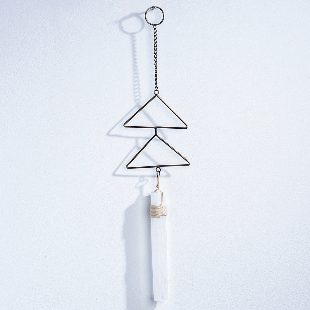 Geo Central Selenite Wall Hanging - Smockingbird's