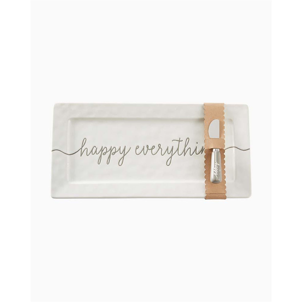 Mud Pie Happy Everything Hostess Platter Set
