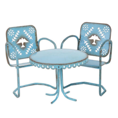Miniature Blue Bistro Set - Smockingbird's