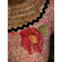 Load image into Gallery viewer, Hand made dress form with pink flowered dress - Smockingbird's Unique Gifts & Accessories,  LLC